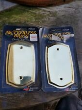 Vintage COLONIAL BRASS SWITCH PLATES MODEL NO.30030-030 by Peerless Brass