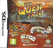THE QUEST TRIO for Nintendo DS NDS - with box & manual