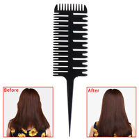 Tail Bone Shape Hair Styling Comb Barber Salon Style Haircut Comb Dyeing To~QA