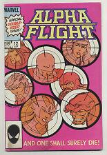 Alpha Flight #12 1984 Death of Guardian Omega Flight Appearance John Byrne p