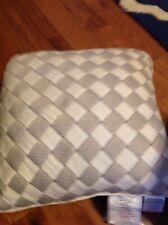 Croscill Gavin Natural Square Pillow, Basket Weave, Nwot