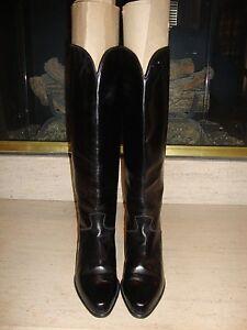 STYLISH BLACK LEATHER KNEE HIGH CHARLES JOURDAN BOOTS WORN ONCE
