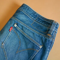 Levi Twisted Engineered Jeans Zip Fly Blue Vintage Women's (LabelW28) W 28 L 32