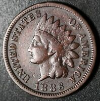 1886 INDIAN HEAD CENT - With LIBERTY - FINE - T1 Type 1