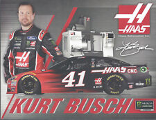 "2018 KURT BUSCH ""MONSTER / HAAS"" MONSTER ENERGY NASCAR CUP DOUBLE SIDED POSTCARD"