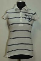 WOMENS SUPERDRY TOP COTTON SIZE S - M LONG ( LABEL M) GC