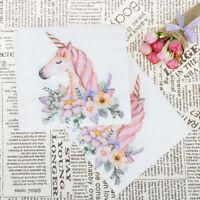 20x serviettes en papier tête Licorne pour les enfants serviettes de table
