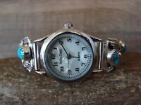 Native American Indian Jewelry Sterling Silver Turquoise Ladies Watch - Saunders
