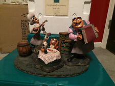 """WDCC Lady and The Tramp Joe, Tramp, Lady & Tony """"Bella Notte"""" + Base & Boxes/COA"""