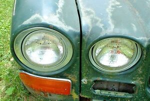 Jaguar XJ6, One Head light assembly, Complete. Choice inner or outer from 1971
