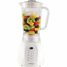 Premium - White 5-Speed + pulse button Blender 40 oz Stainless Steel blade 500W