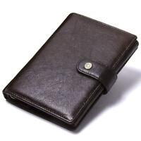 Men's Genuine Leather Passport Holder Wallet Card Holder Organiser Travel Purse