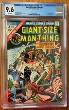 GIANT-SIZE MAN-THING #2 CGC 9.6 -- WHITE PAGES! FANTASTIC FOUR/TONY STARK APP