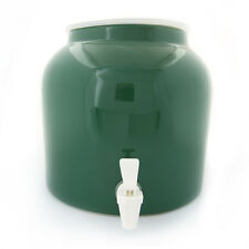 Goldwell Designs® Solid Green Porcelain Water Dispenser Crock (DS161)