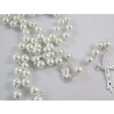 croce maria ACCIAIO rosary ROSARIO ARGENTO fashion crocifisso Collana UOMO br
