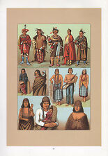 Vintage fashion costume imprimer ~ american indians renards sacs kaw Killimous