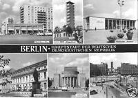 AK, Berlin - Hauptstadt der DDR, sechs Abb., 1965