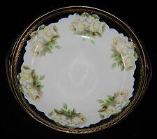 Rosenthal DONATELLO Cobalt Blue White Rose Round Bowl