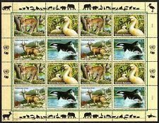 UN / Vienna office - 2000 Endangered animals/plants (VIII) Mi. 303-06 sheet MNH