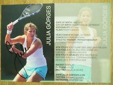 Handsignierte Autogrammkarte *JULIA GÖRGES* Tennis Deutschland WTA Motiv: 4