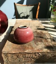 More details for a nice chinese antique qing period, peach red glaze water pot, scholar's object.
