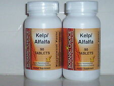 KELP 150mcg ALFALFA 200mg IODINE BOTANIC CHOICE SUPPLEMENT 180 TABLETS 2 BOTTLES