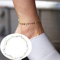 Boho Beads Tassels Anklet Bracelet Sandal Summer Beach Ankle Chain Women Jewelry