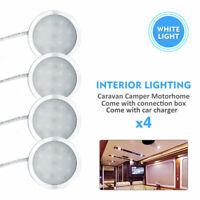 4Pcs 12V Interior LED Spot Light For Camper Van Caravan Motorhome White Lamp UK