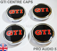 4 x 60mm GTI Wheel Centre Hub Caps - Fits BORA GOLF PASSAT POLO SCIROCCIO GTI UK