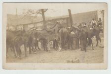 1910 RPPC Horses, Buildings Sansom TX Texas