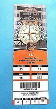 Baltimore Orioles Vs Tampa Bay Rays 2012 Ticket w/Stub Wednesday 7/25/2012
