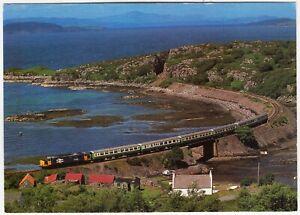 ERBUSAIG CAUSEWAY - English Electric Diesel Engine 37 37416 in 1989 -  postcard