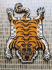 Traditional Tibetan small tiger skin rug