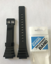 Casio   Original   Band      W-215H    W-215  Shiny  Black  Strap  W215