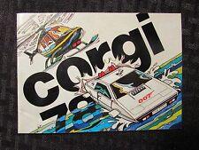 1976 CORGI Toys Die-Cast Vehicles Catalog FVF 7.0 48pgs Batman Superman Bond 007