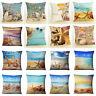 Shell & Starfish Cotton Linen Pillow Case Waist Cushion Cover Home Decor Fashion