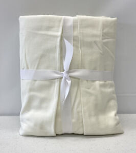"""NEW Pottery Barn PB Basic Pleated KING Bedskirt w/18"""" Drop~Off White Twill"""