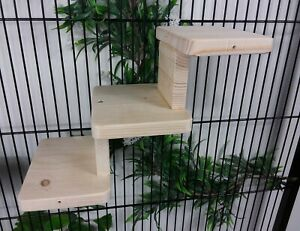 Set of 3 shelf Pine Steps/Stairs Chinchilla, Degus Rat cage