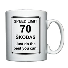 ŠKODA - Skoda - Speed Limit - Personalised Mug Christmas/Birthday/Joke/Funny
