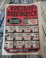 Arnold's Discount Drug Stores Sales Flyer November 27th 1971 Holiday Ads