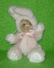 The Bearington Collection TEDDY BEAR IN PINK BUNNY SUIT Plush Stuffed Animal 10""