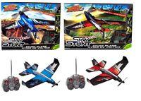 Air Hogs Sky Stunt Plane Red Blue10+ Toy Jet Car Pilot Play RC IR Remote Control