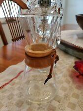 "VTG CHEMEX COFFEE MAKER Pyrex Glass Carafe green label 3 cups, 8"" , Museum Piece"