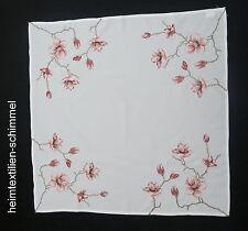 STICKEREI Tischdecke FRÜHLING Mitteldecke BLUMEN Decke SOMMER Deckchen 85x85cm