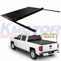 Roll Up Tonneau Cover 5.8 FT Bed For GMC Sierra Chevy Silverado 1500 2007-2013