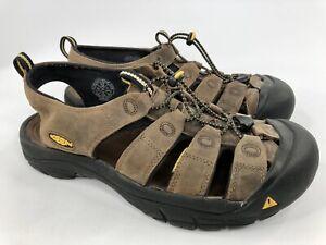 KEEN Men's 12 Newport Bison Brown Leather Waterproof Water Sandals
