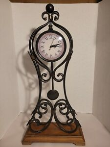 Vintage Mantle/Wall Clock Cast Iron