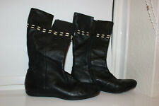 Womens LACOSTE Leather boots / shoes. Black. UK Size 5