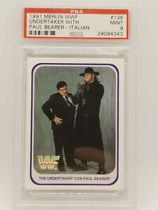1991 Merlin WWF WWE Undertaker #138 PSA 9 ROOKIE CARD  HOT !!!