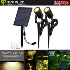 Separated Dual Solar LED Warm White Spot Wall lights Garden Outdoor lamps 4000K